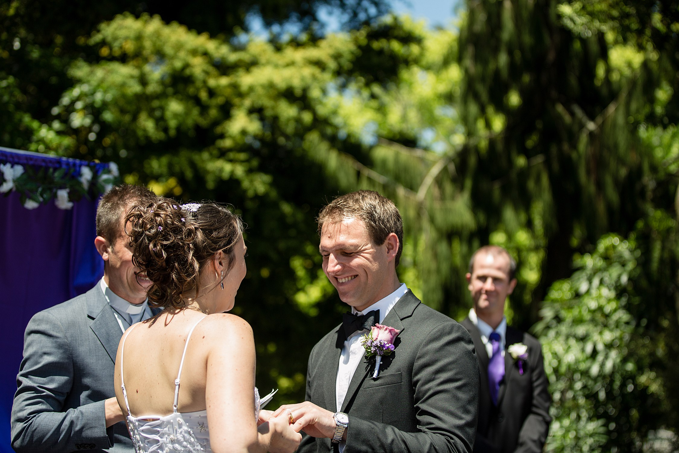 rotorua rose garden wedding photography