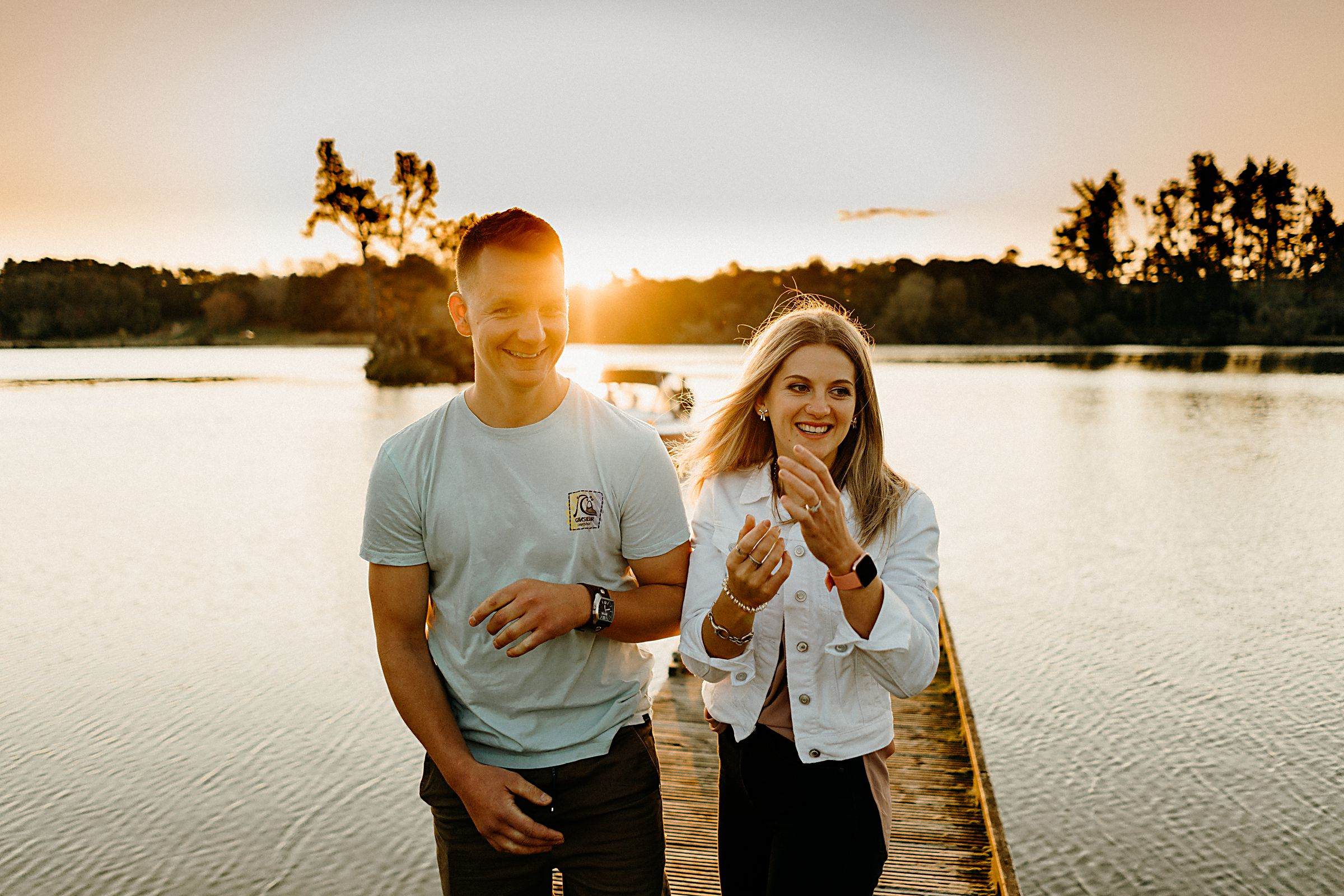 Waikato Sunset Engagement Photos