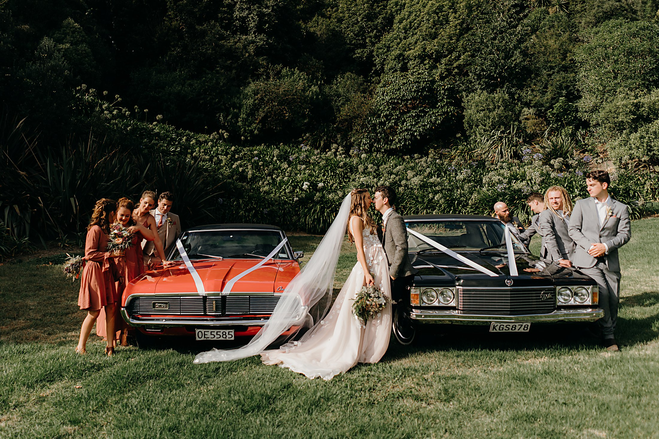 Wedding Party and car photos