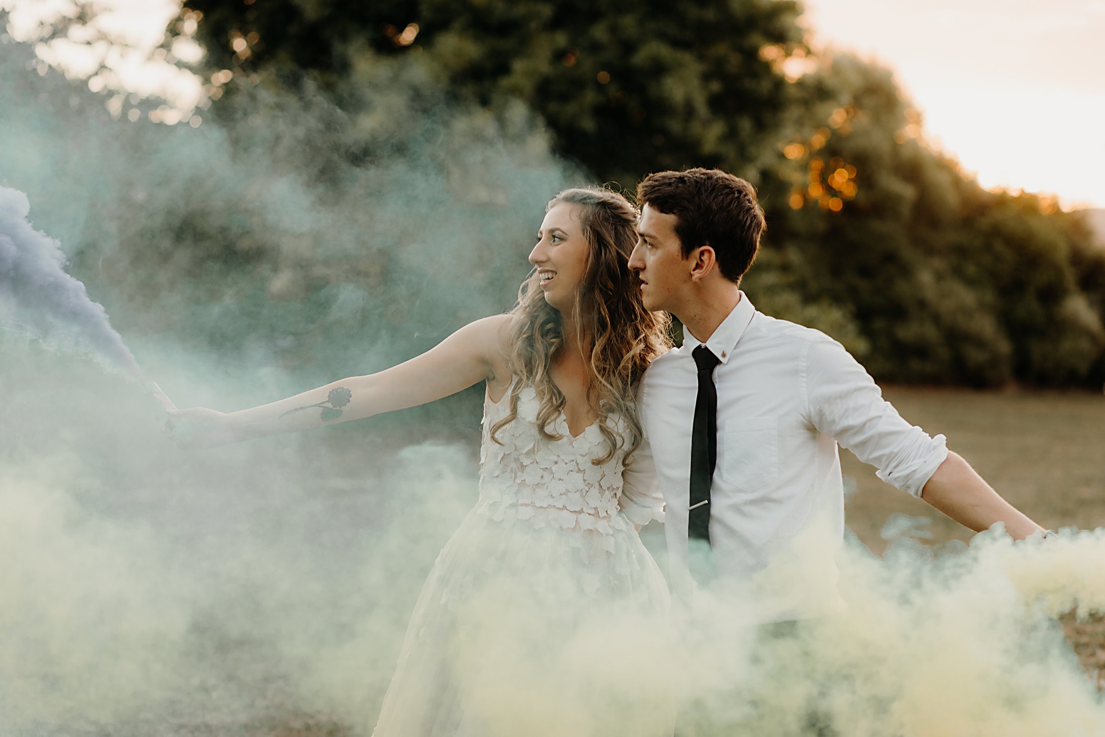 Smokebomb Wedding Photos