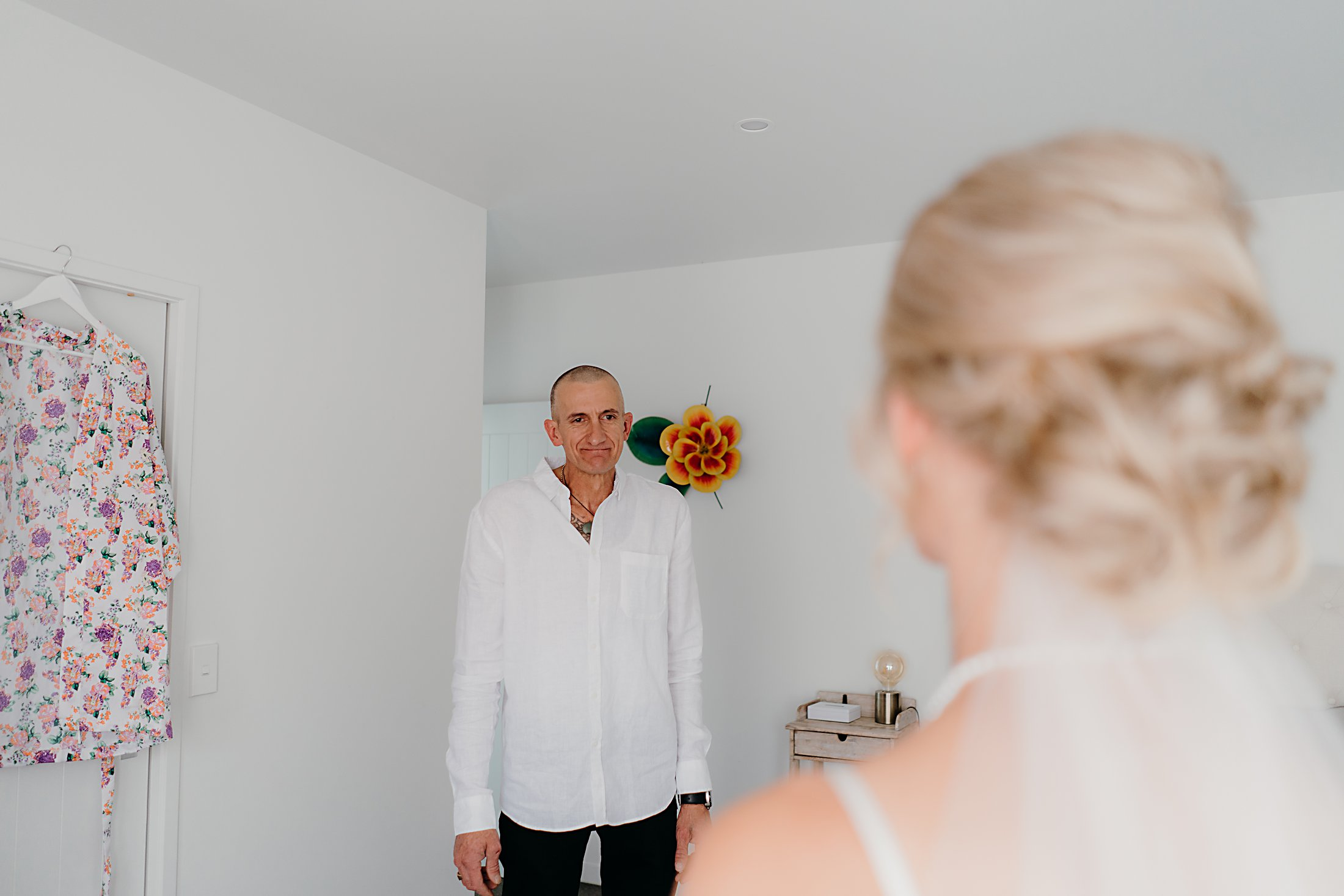 bride's dads reaction